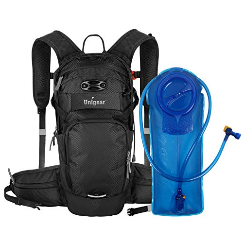 Unigear Hydration Packs Backpack with 2L TPU Water Bladder Reservoir, Thermal Insulation Pack Keeps Liquid Cool up to 4 Hours for Running, Hiking, Climbing, Cycling (Black)