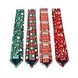 AAGOOD 4pcs Weihnachtskrawatte Ferien Festival Krawatte für Männer und Jungen Holiday Season-Party