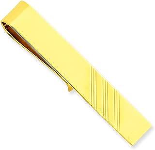 14K Yellow Gold Tie Bar Mens Jewelry Polished New |F