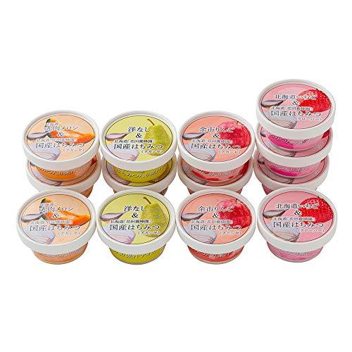 花田養蜂園&北海道産フルーツ アイスギフト(4種・計13個) セット 詰め合わせ