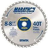 IRWIN Tools MARATHON Carbide Table / Miter Circular Blade, 8 1/4-inch, 40T...