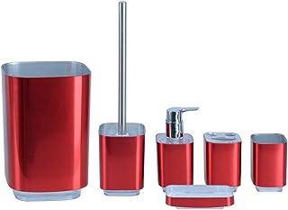 Amazon Com Red Bathroom Accessory Sets Bathroom Accessories Home Kitchen