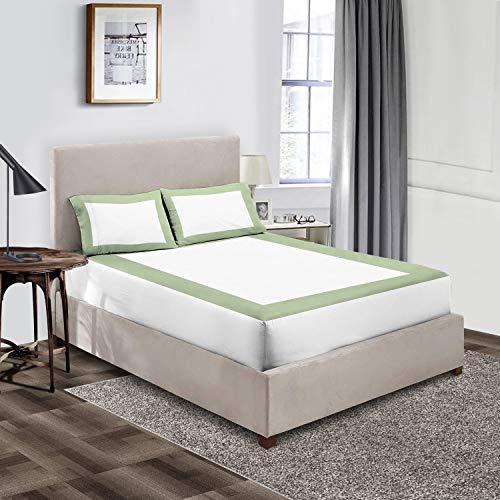 Exotic Bedding Collection - Sábana bajera ajustable (algodón egipcio, tamaño king, 3 unidades, 600 hilos, 38 cm de profundidad)