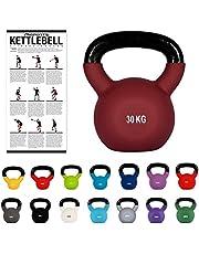 MSPORTS Kettlebell Professional met neopreen, 2 tot 30 kg, incl. poster met oefeningen