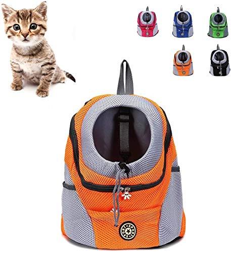 Shade Cloth Trasportino Gatto Zaino Cane Gatto, Carrier Dog, Puppy Pet Carrier Bag Frontale con Traspirante Testa out Design e Doppia Rete Imbottita Tracolla for Esterni Escursionismo SLZFLSSHPK