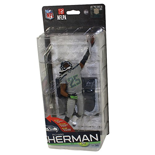 McFarlane Toys NFL Sports Picks Series 36 Richard Sherman Action Figure [Gray Uniform]