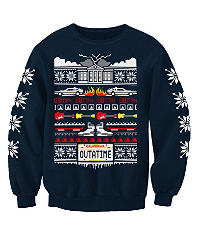 Back to the Future Ugly Christmas Sweater for Adults