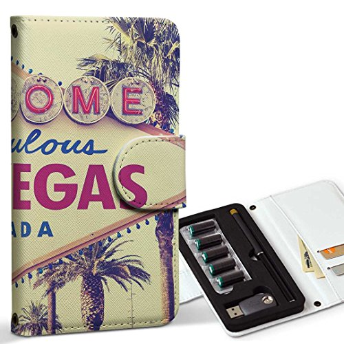 スマコレ ploom TECH プルームテック 専用 レザーケース 手帳型 タバコ ケース カバー 合皮 ケース カバー 収納 プルームケース デザイン 革 ラスベガス 外国 写真 011323