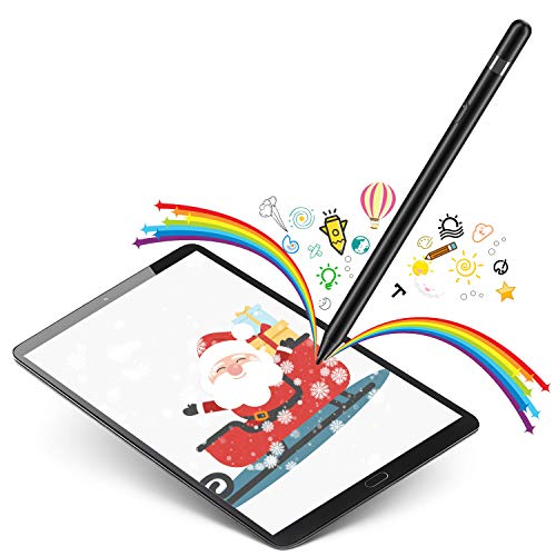 Selvim Stylus Pen for Touch Screens 1.5 mm Fine Point Active Stylus Rechargeable Smart Digital Pencil Compatible with Phone with Touch Screen, iPad and Most Tablet