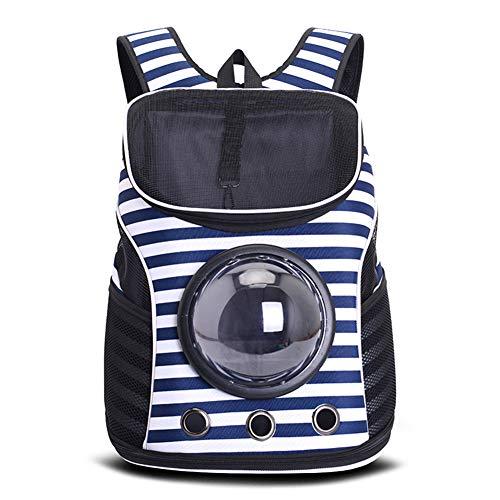 Sac à dos pour animaux de compagnie, sac à dos pliable de conception portable, adapté aux chatons et aux chiens, confortable et respirant, adapté à la randonnée et à une utilisation en extérieur,Blue