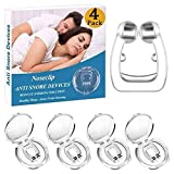 Anti Snore Nose Clip Silicone Magnetic Snore Devices to Ease Breathing, Effective Nose Vents as Snoring Solution, Soft Nasal Dilator as Snore Stopper, Professional Sleep Aid for Men Women (4 Packs)