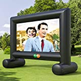 Fayelong Outdoor Video Projector Screen, Inflatable Mega Movie Screen Projection Screen with Carry Bag for Indoor and Outdoor Home Theater Backyard Cinema Travel (16ft)
