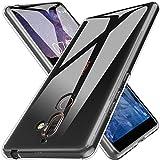 Conie LC25871 Liquid Crystal Kompatibel mit Nokia 7 Plus, Transparent Silikon Schutzhülle Bumper Hülle HD Clear rutschfest Cover für Nokia 7 Plus Handyhülle Durchsichtig