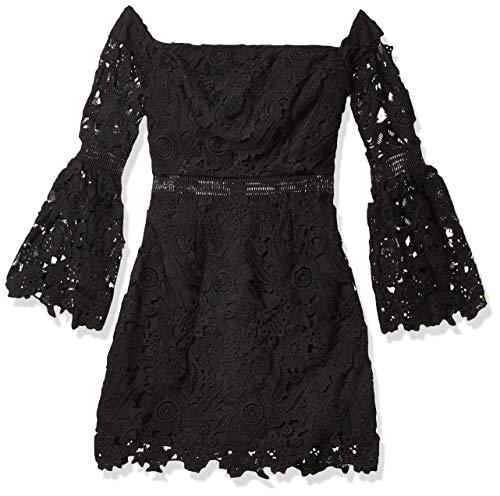 Cynthia Rowley Women's Lace Off The Shoulder Dress, Black, 0