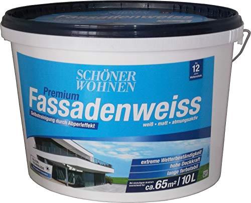 10 Liter SCHÖNER WOHNEN Premium Fassadenweiss auf Siliconharzbasis