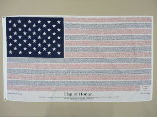 Flag of Honor 3 ft x 5 ft POLY-COTTON 9/11 Commemorative Flag