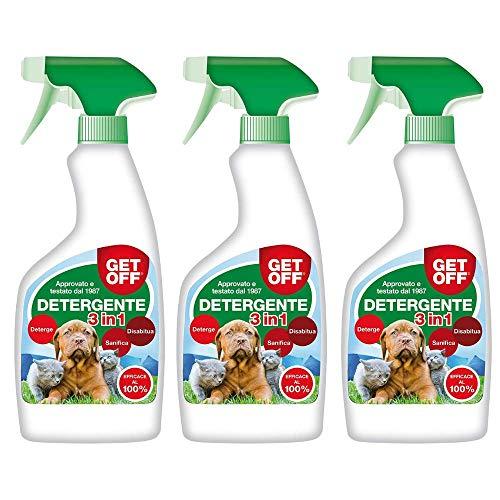 BOXLUM Get Off 3in1 Detergente Disabituante Sanificante confezione 3 Flaconi Spray da ml 500