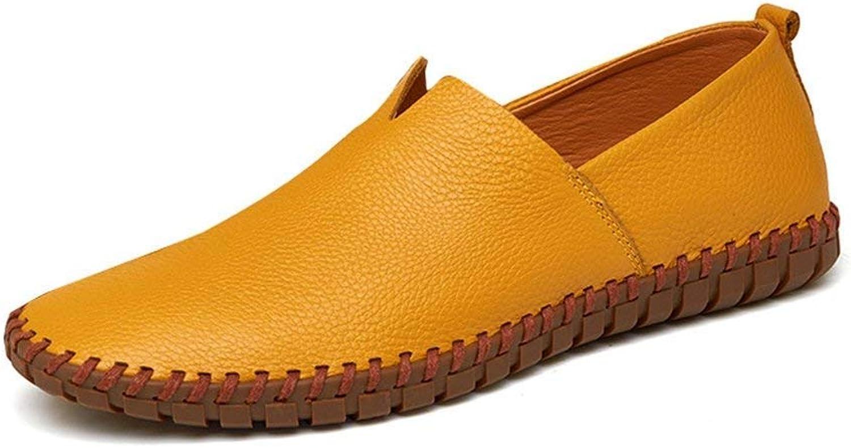 ZHRUI Mens Driving Schuhe aus echtem Leder Müßiggänger Schuhe Schuhe Schuhe Mode handgefertigte weiche atmungsaktive Mokassins Wohnungen Slipe On Schuhe (Farbe   Kamel, Größe   11.547 EU)  760ae6