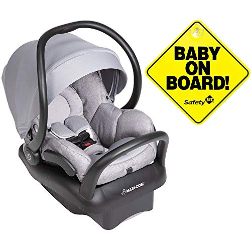 Maxi-Cosi Mico Max 30 Infant Car Seat - Nomad Grey with Baby on Board Sign