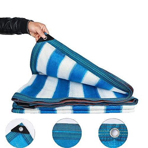 ZHAS Ombre tissée, Filet Bleu Tar Bâche de Protection Solaire extérieure pour Jardins/serres/abri d'auto/Toit/Ombre de Patio (Taille: 3x10m)