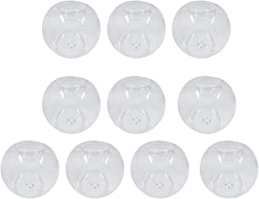 Fenteer Glass Tealight Candleholders Candlestick Candle for Wedding Home Bar Decoration - Clear, 10pcs 10cm Dia.