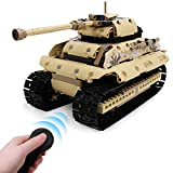 OUTFANDIA Remote Control Car Building Blocks, RC Tracked Racer Building Kit(495pcs) All Terrain Tank, Educational STEM Learning Toy Gift for Kids Boys Girls