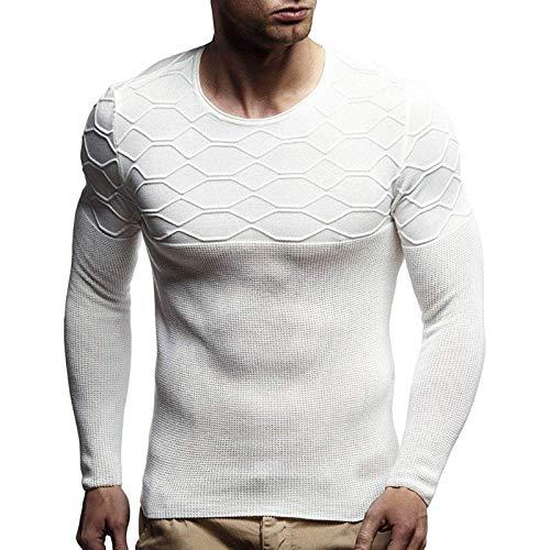 Capabes Mens Gym Workout Sweatshirt Leichtes Langarm-Pullover mit rundem...