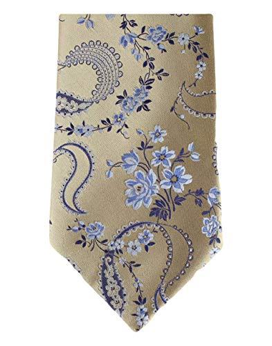 David Van Hagen Cravate florale d'or de