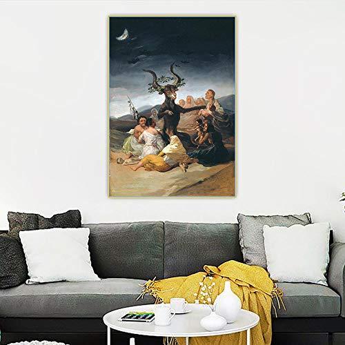Munxag Impresión en lienzo personalizada Francisco Goya, di