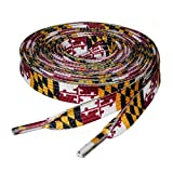 """Maryland State Flag Shoelaces – One Pair of 47"""" Laces"""