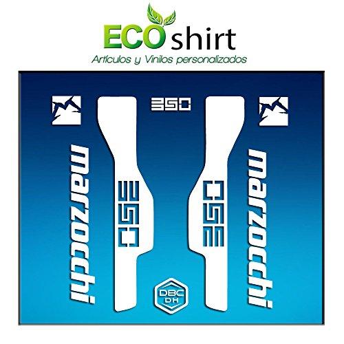 Ecoshirt 8V-Q6J4-JKMN Aufkleber Gabel Fork Marzocchi 350 Am32 Stickers Aufkleber Decals Adesivi Bike BTT MTB Cycle, Weiß 26