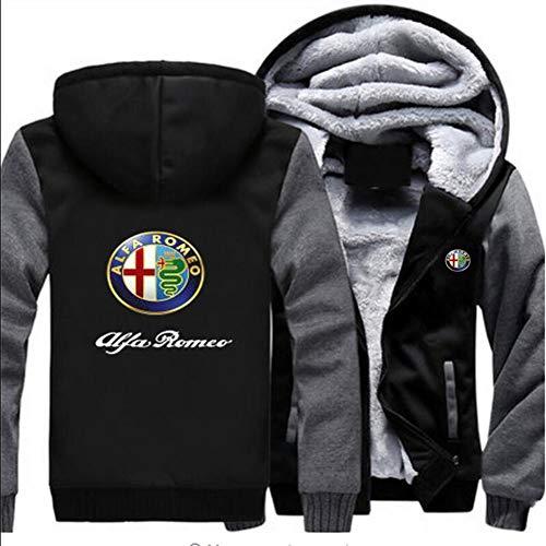 SryWj Pullover Alfa Romeo Stampa e tintura 3D, Felpa Casual, Giacca Maglione per Adolescenti, Maniche Lunghe per Uomo e Donna per Stare al Caldo in Inverno