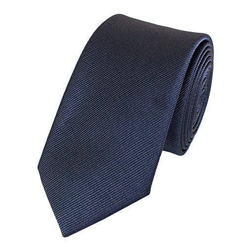 Fabio Farini - Elegante Herren Krawatte gemustert in 6cm Breite in verschiedenen Farben für jeden Anlass wie Hochzeit, Konfirmation, Abschlussball Gestreift Dunkelblau Struktur