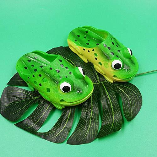 LINGZIA Open Toe Cute Frog drinnen und draußen Sommertiere Lässige Sandalen, lustige Pantoffel Damen kreative Cartoon Schuhe 38 Frosch
