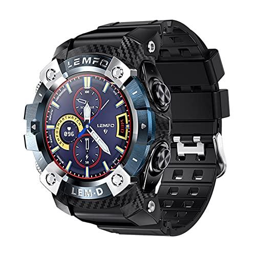 WMB El Nuevo Reloj Inteligente Bluetooth 5.0 Y Auriculares Inalámbricos 2 En 1 Monitor De Ritmo Cardíaco Smartwatch Men 2021,B
