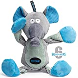 EASTBLUE Elephant Dog Squeaky Toys: Cute Plush Stuffed Puppy Chew Toy with 6 Squeakers for Small | Medium Breed