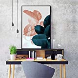 RTCKF Color Leaf Plant Artist Decoration Nordic Canvas Painting Stampa Camera da Letto Moderna Decorazione murale (Senza Cornice) A2 40x50cm