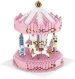 Chicas Carrusel Pink Building Blocks Ladrillos Malla DIY Rojo Toys Toys para Niños Amigos