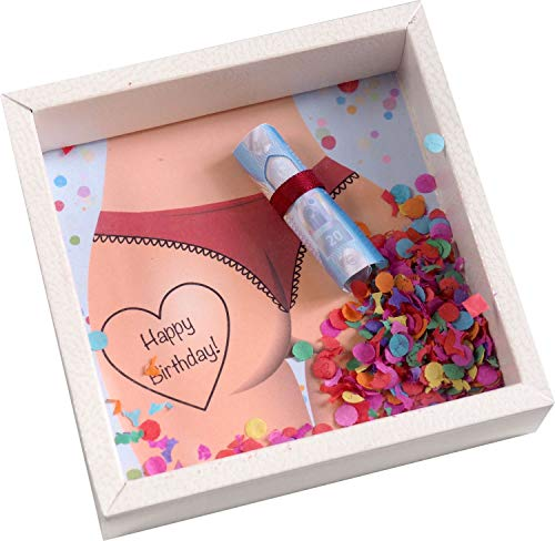 ZauberDeko Geldgeschenk Verpackung für Männer Geburtstag Mann Happy Birthday Konfetti Geschenk Party - 3