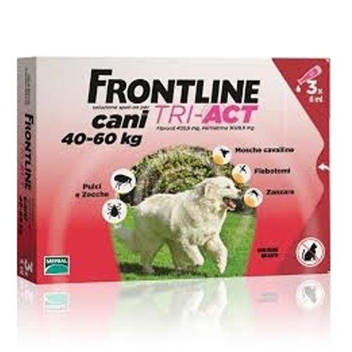 FrontLine Tri-act Cani 40-60 kg 3 pipette da 6ml
