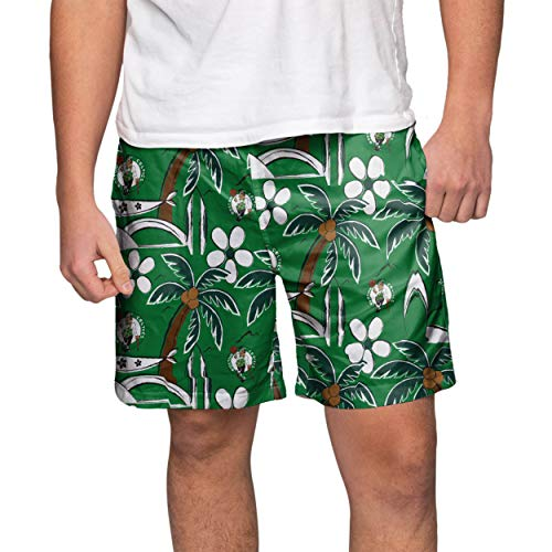 FOCO NBA Boston Celtics Mens Tropical Swim Suit TrunksTropical Swim Suit Trunks, Team Color, Large