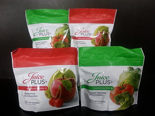 JUICE PLUS CHEWABLES - ORCHARD & GARDEN BLEND BAGS - 2 EACH