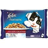 Purina Felix Fantastic Festín Gelatina comida para gatos Selección Surtido de Carnes 10 x [4 x 100 g]