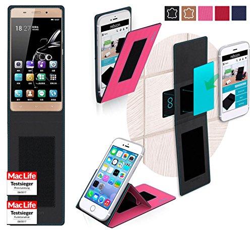 Hülle für Gionee Marathon M5 Lite Tasche Cover Hülle Bumper | Pink | Testsieger