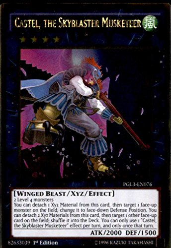 Yu-Gi-Oh! - Castel, the Skyblaster Musketeer (PGL3-EN076) - Premium Gold: Infinite Gold - 1st Edition - Gold Rare