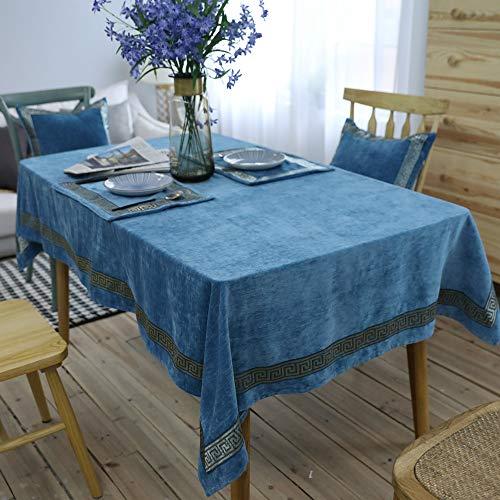 YZT QUEEN Nordic stijl rechthoekig tafelkleed, dikke dubbelzijdig pluche tafelkleed, effen kleur geborduurd tafelkleed, tafel decoratie restaurant feestje bruiloft