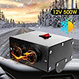 MASO 12V 500W Car Heater,Car Defroster with 2 Outlet for Vehicle RV SUV Truck