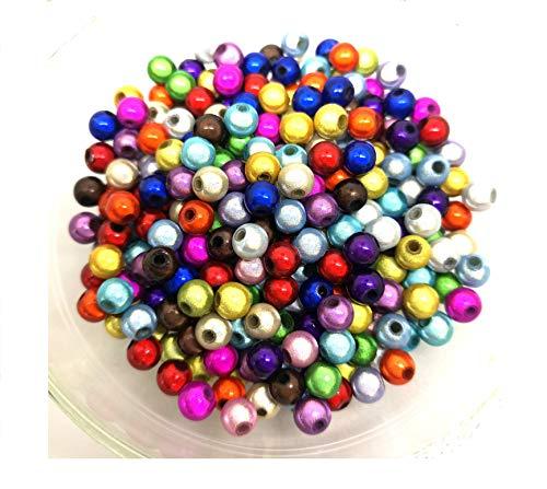 100 Miracle Illusion Beads - 6mm - Acrylic Round - 3D - Random Mix - J17049T