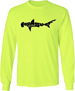Koloa Surf Shark Logo Long Sleeve Heavy Cotton T-Shirts in Regular, Big & Tall