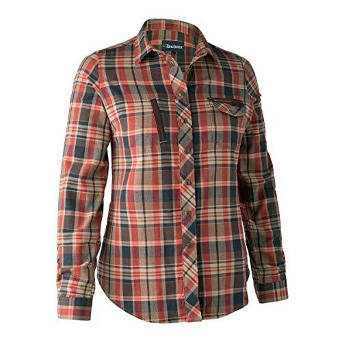 Deerhunter Lady Athena Shirt Orange Check